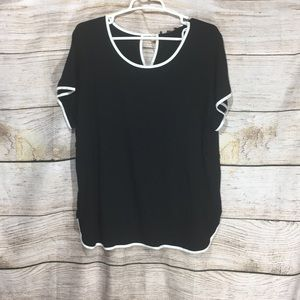 Cable & Gauge 1x shirt black and white elegant